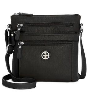 Giani Bernini Pebble Crossbody Black Bag